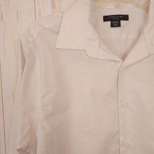 STRUCTURE White Button Down Longsleeve Shirt Large